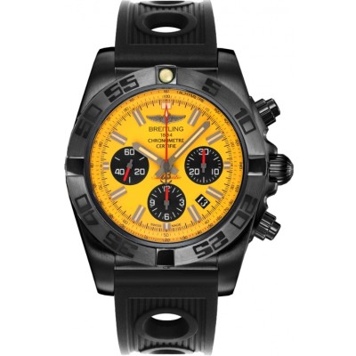 Captain Replica Watch - Breitling Chronomat 44 Blacksteel Yellow Dial MB0111C3/I531/200S