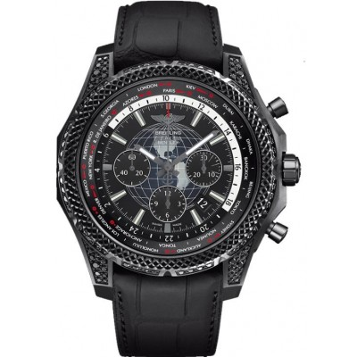 Captain Replica Watch - Breitling Bentley B05 Unitime Black Steel MB0521V5/BE46/265S