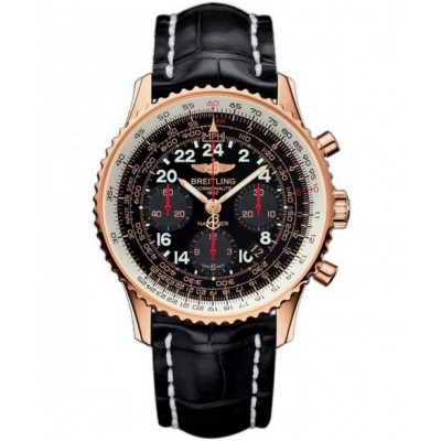 Captain Replica Watch - Breitling Navitimer Cosmonaute Rose Gold Black Dial RB0210B5/BC19/743P/R20BA.1