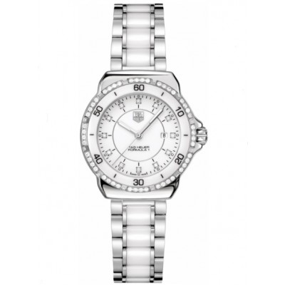 Captain Replica Watch - TAG Heuer Formula 1 Steel and White Ceramic Diamond WAH1313.BA0868