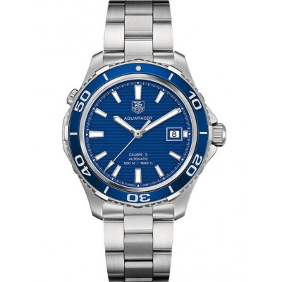 Captain Replica Watch - TAG Heuer Aquaracer Calibre 5 500M Blue Dial WAK2111.BA0830