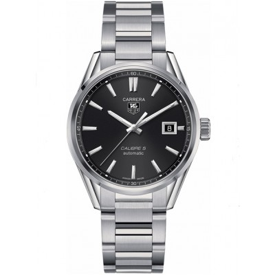 Captain Replica Watch - TAG Heuer Carrera Calibre 5 Date Steel Black Dial WAR211A.BA0782