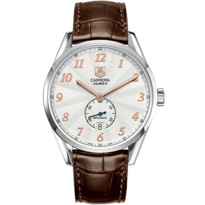 Captain Replica Watch - TAG Heuer Carrera Heritage Calibre 6 Silver Dial with Rose Gold WAS2112.FC6181