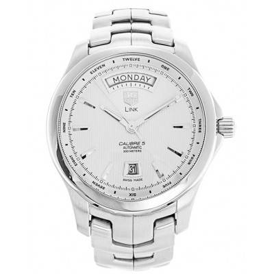 Captain Replica Watch - TAG Heuer Link Calibre 5 Day Date Silver Dial WJF2011.BA0592