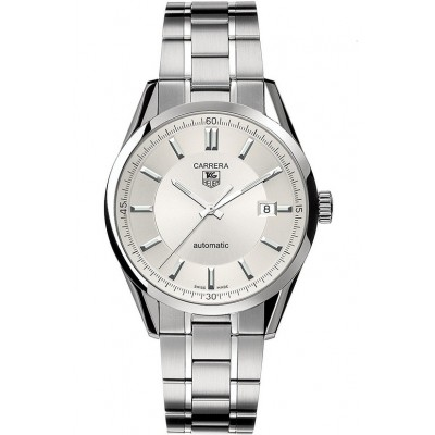 Captain Replica Watch - TAG Heuer Carrera Calibre 5 Date Steel Silver Dial WV211A.BA0787