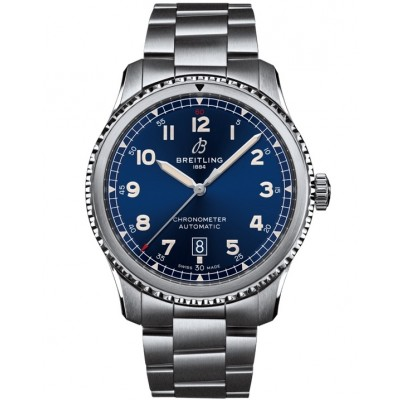 Captain Replica Watch - Replica Breitling Aviator 8 Blue Dial Automatic A17315101C1A1