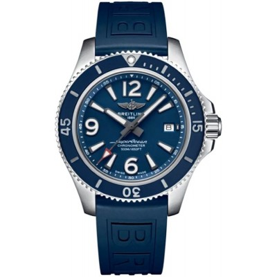 Captain Replica Watch - Replica Breitling Superocean 42 Blue Dial A17366D81C1S2