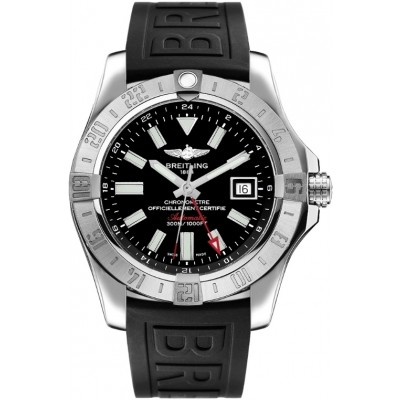 Captain Replica Watch - Replica Breitling Avenger II GMT Volcano Black Dial A32390111B1S2