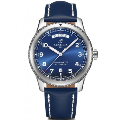 Captain Replica Watch - Replica Breitling Aviator 8 Day & Date Blue Dial A45330101C1X3