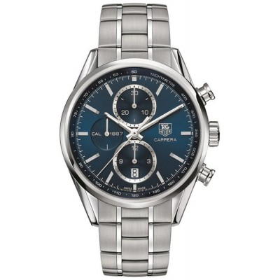 Captain Replica Watch - TAG Heuer Carrera Calibre 1887 Chronograph Blue Dial CAR2115.BA0724