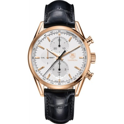 Captain Replica Watch - TAG Heuer Carrera Calibre 1887 Chronograph Rose Gold CAR2140.FC8145