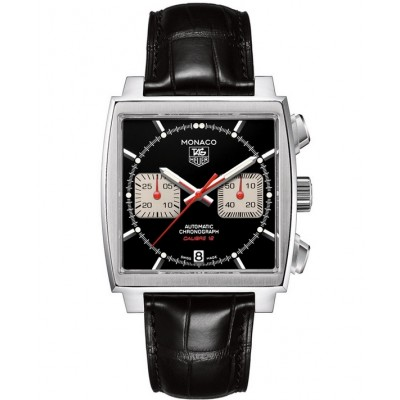 Captain Replica Watch - TAG Heuer Monaco Calibre 12 Steve McQueen Black Dial CAW2114.FC6177