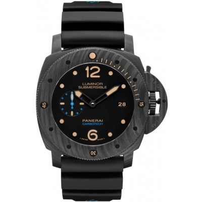 Captain Replica Watch - Panerai Luminor Submersible 1950 Carbotech 3 Days Black PAM00616