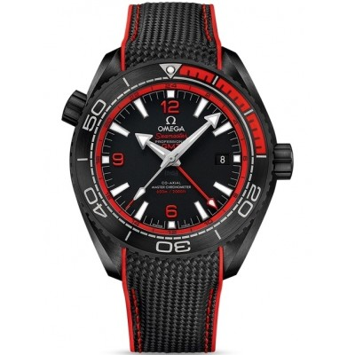 Captain Replica Watch - Omega Seamaster Planet Ocean GMT Deep Black Red 215.92.46.22.01.003