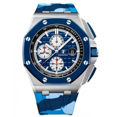 Captain Replica Watch - Audemars Piguet Royal Oak Offshore Chronograph Blue Camouflage 26400SO.OO.A335CA.01